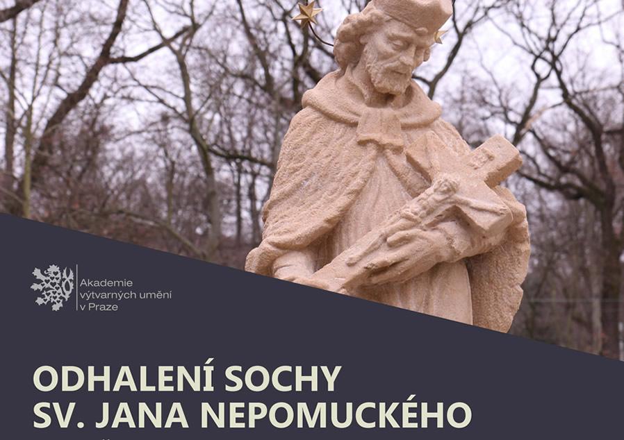 Slavnostní odhalení a vysvěcení sochy sv. Jana Nepomuckého