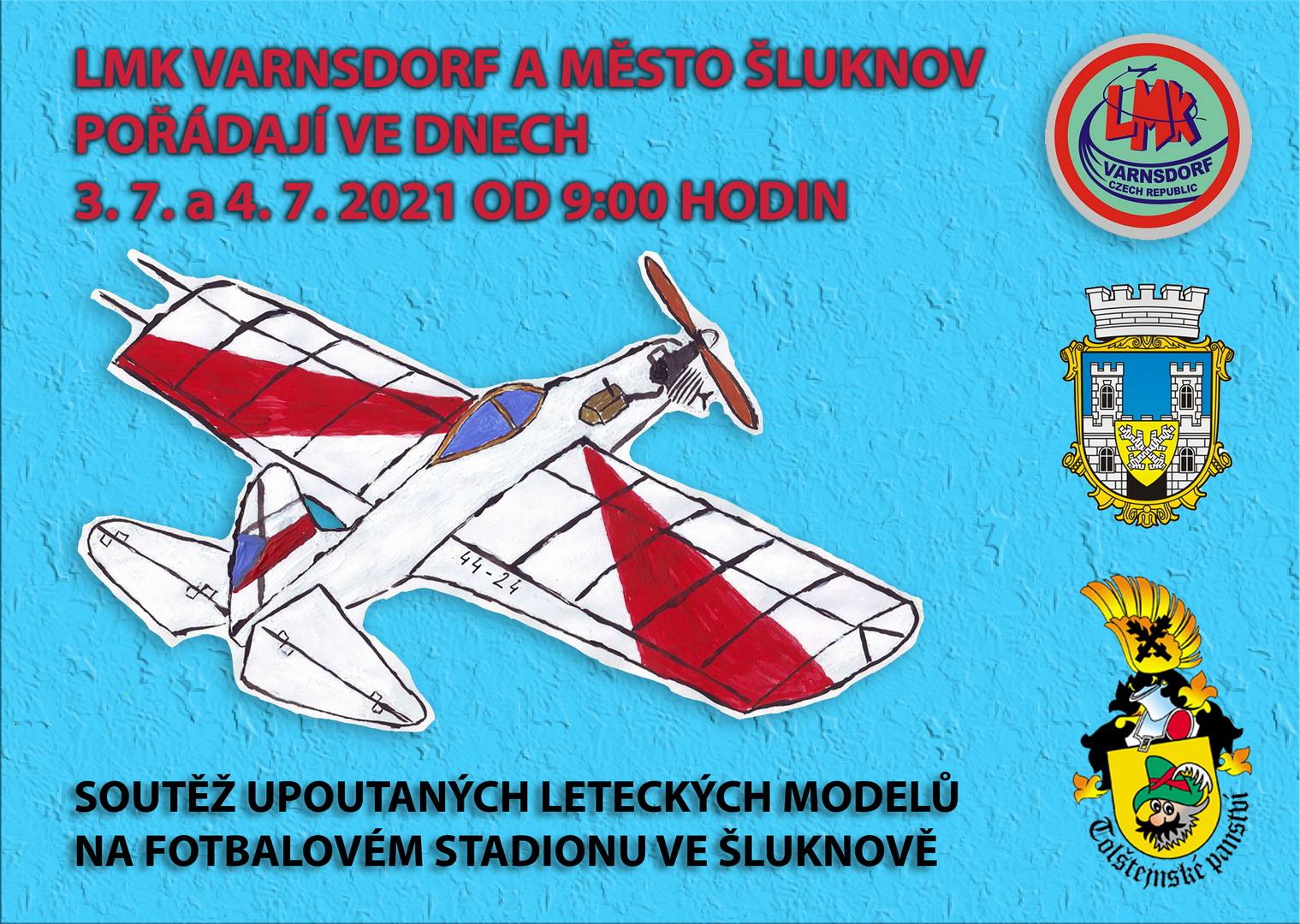 Soutěž upoutaných leteckých modelů na fotbalovém stadionu ve Šluknově