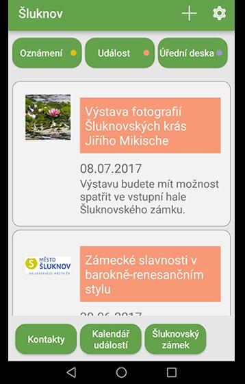mobilní aplikace - Česká obec