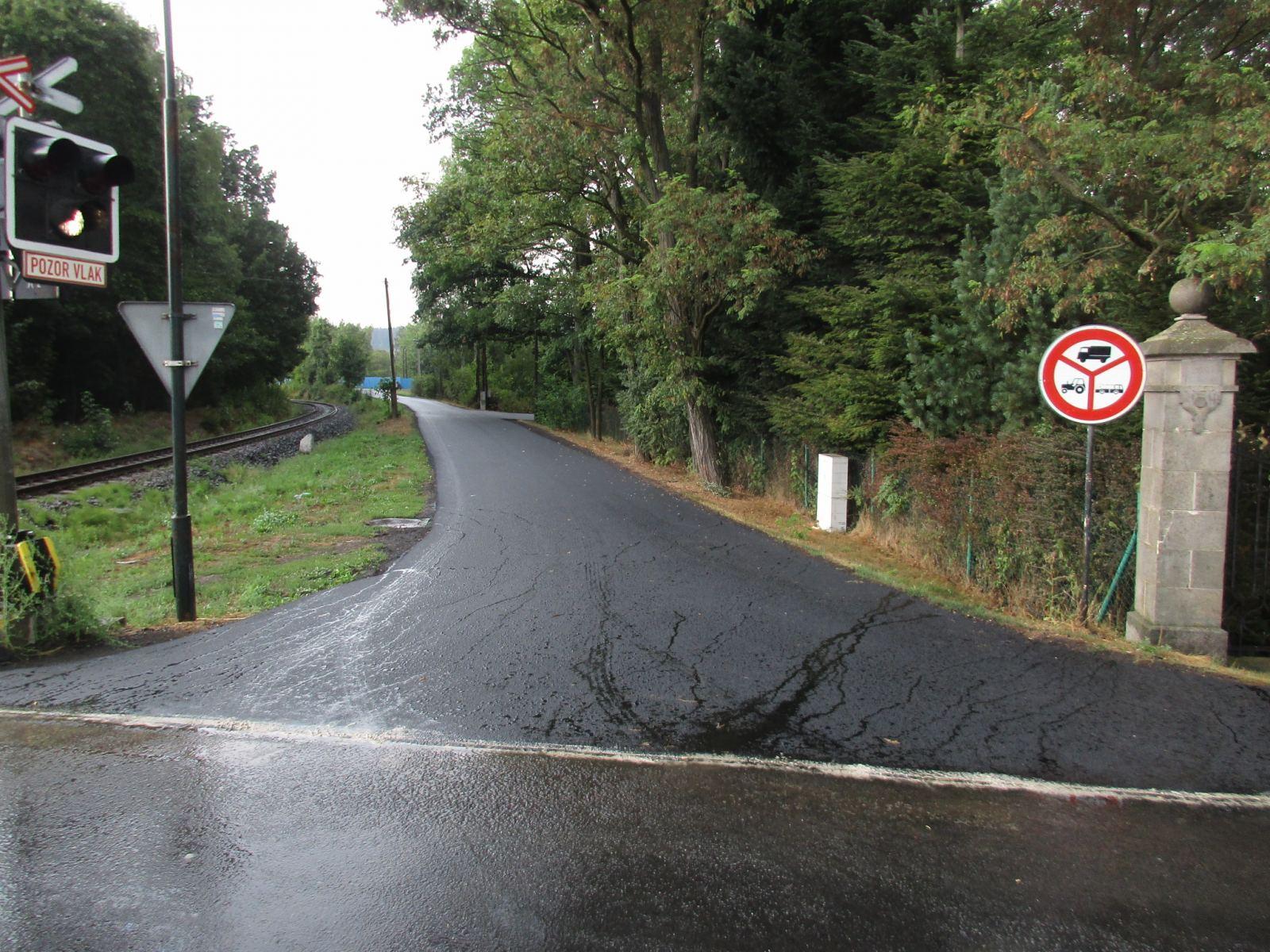 opravená křižovatka z Rumburské ulice