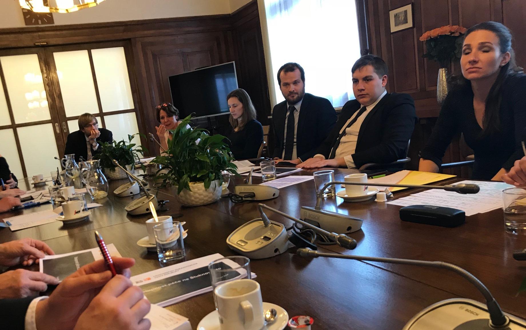 Jednání starostů Šluknovska na ministerstvu zdravotnictví