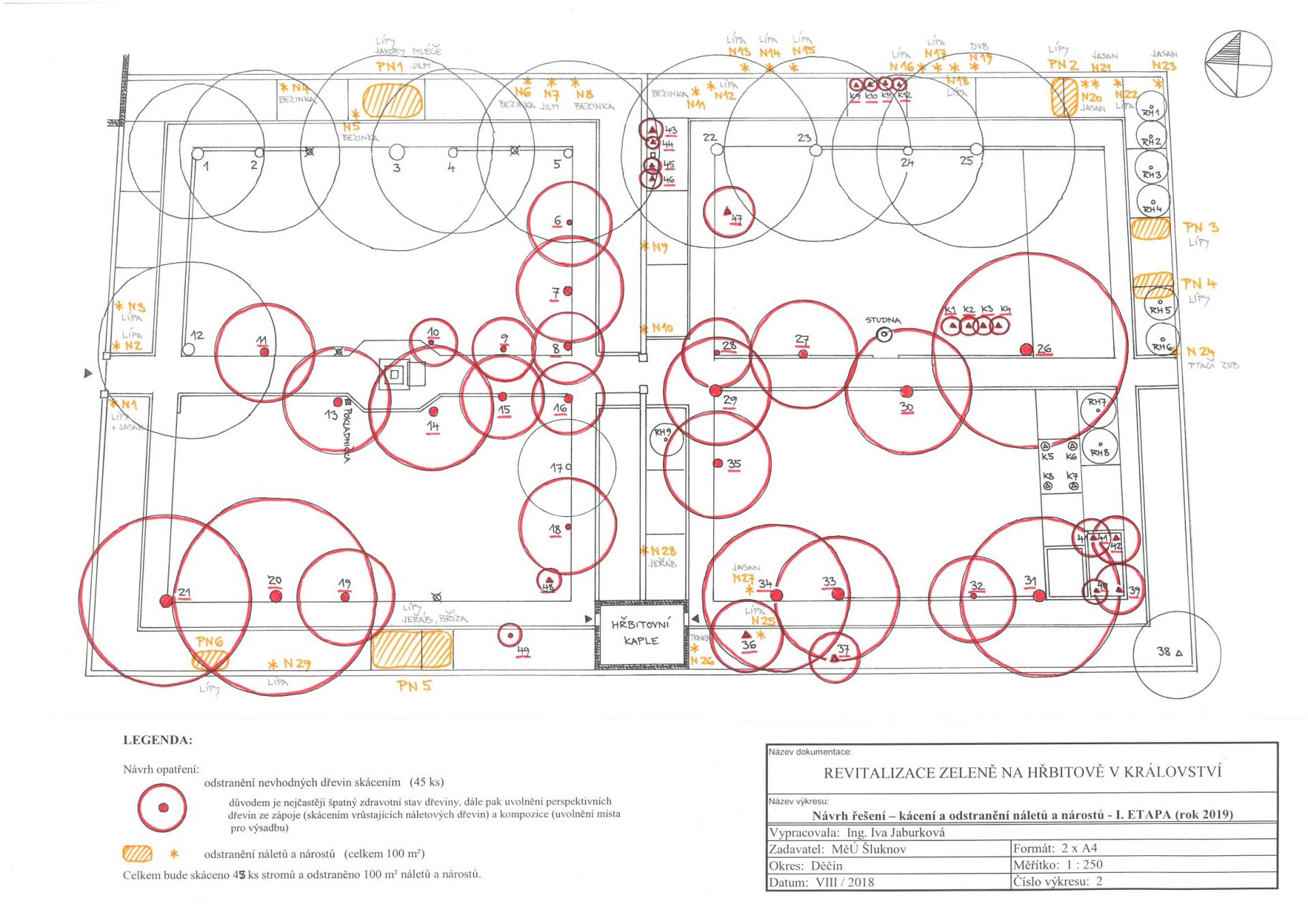 návrh kácení - I. etapa