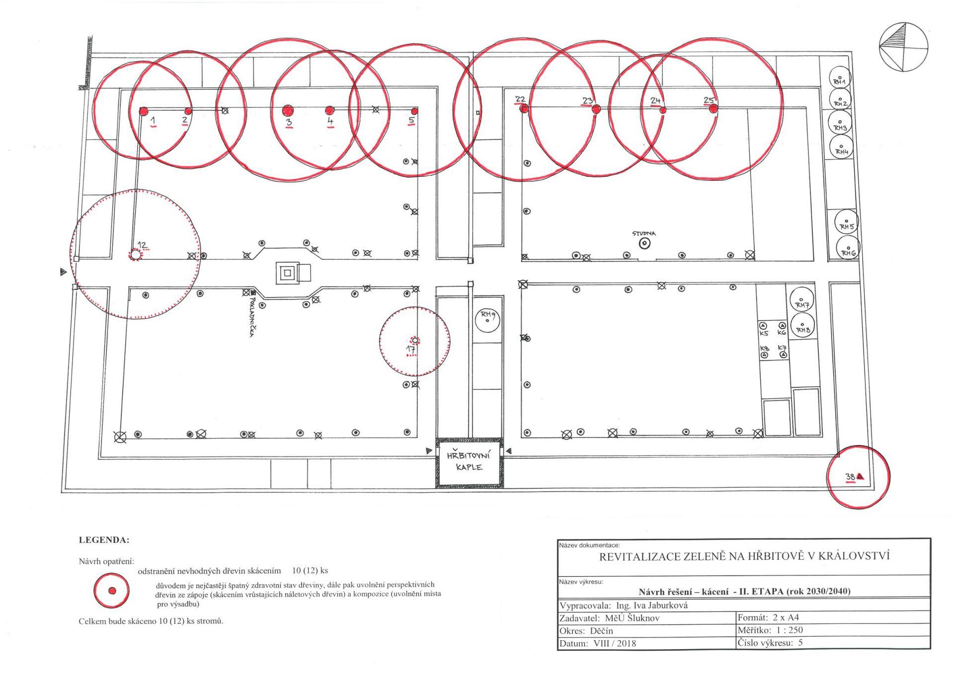 návrh kácení - II. etapa