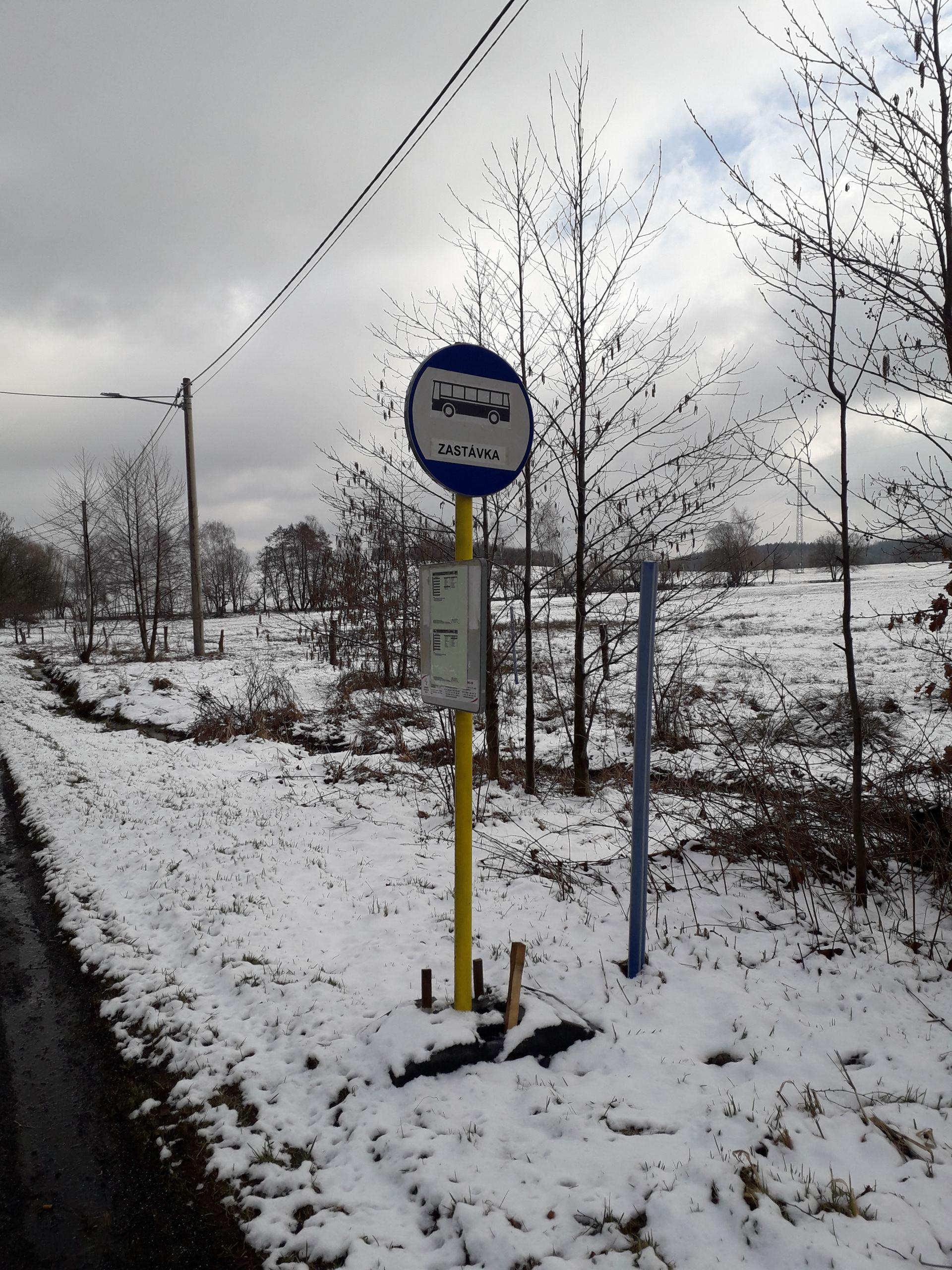Nová autobusová zastávka v Císařském