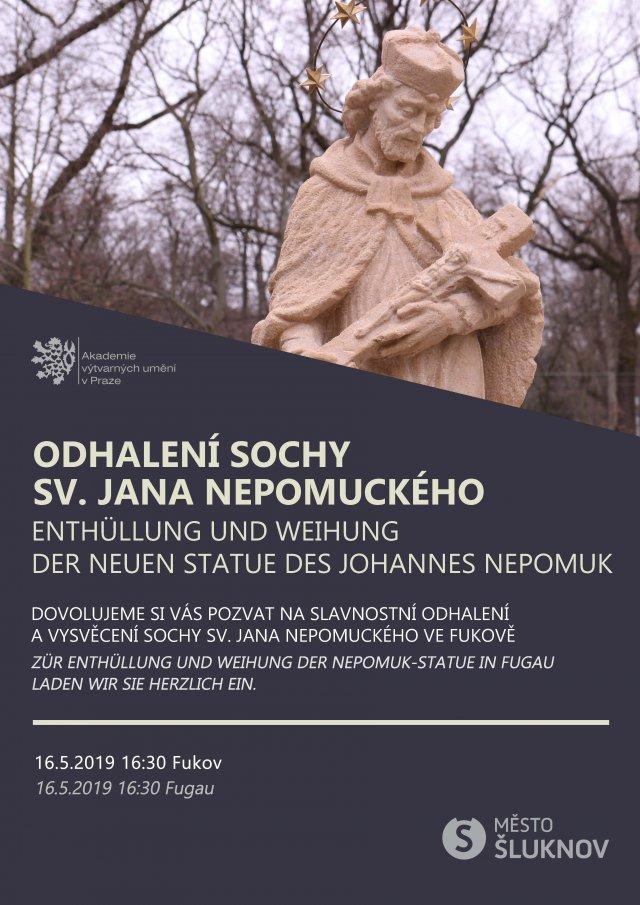 Slavnostní odhalení sochy sv. Jana Nepomuckého ve Fukově