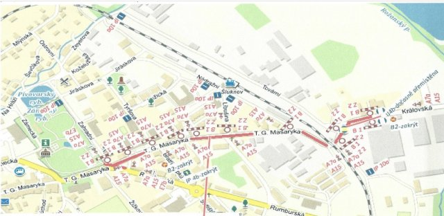 Oprava krajské komunice - ulice TGM