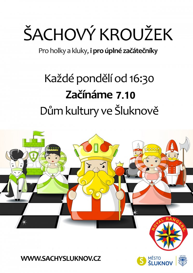 Šachový kroužek - začínáme 7.10. v DK Šluknov