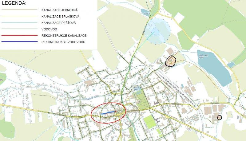 Ve Šluknově, v ulici Smetanova začíná rekonstrukce dožilého vodovodu a popraskané kanalizace