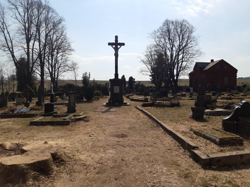 prostor hřbitova po dokončení kácení
