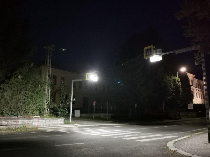 Výměna svítidel přechodu na Špici