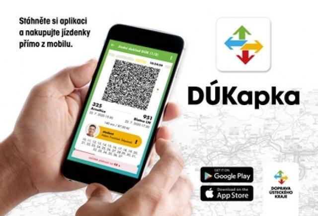 Mobilní aplikace DÚKapka = jednoduchý nákup jízdenek veřejné hromadné dopravy v našem kraji