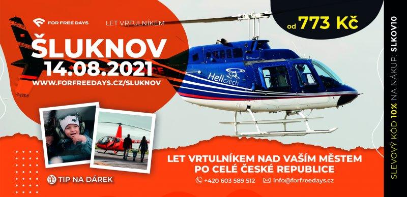 Let vrtulníkem | ŠLUKNOV a okolí (14.08.2021)