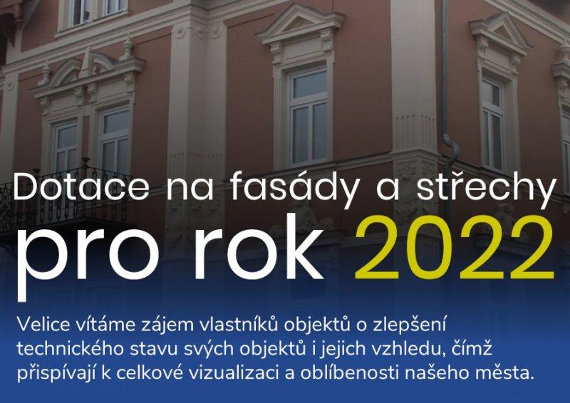 Dotace na fasády a střechy pro rok 2022 aktuálně